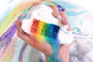 the original rainbow cloud bath bomb